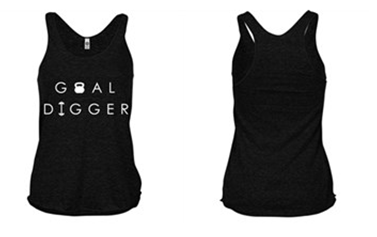 [Apparel] Women's Goal Digger Racer Back Tank - Fit Girl Nikki eShop