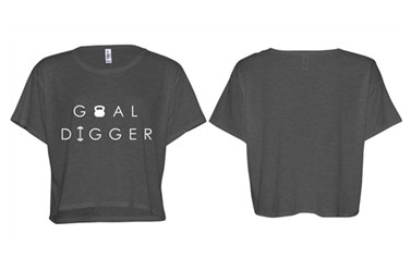 [Apparel] Women's Goal Digger Crop Tee - Fit Girl Nikki eShop