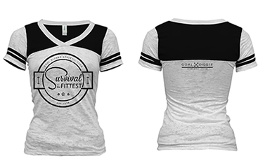 [Apparel] Women's Survival of the Fittest Football Tee - Fit Girl Nikki eShop