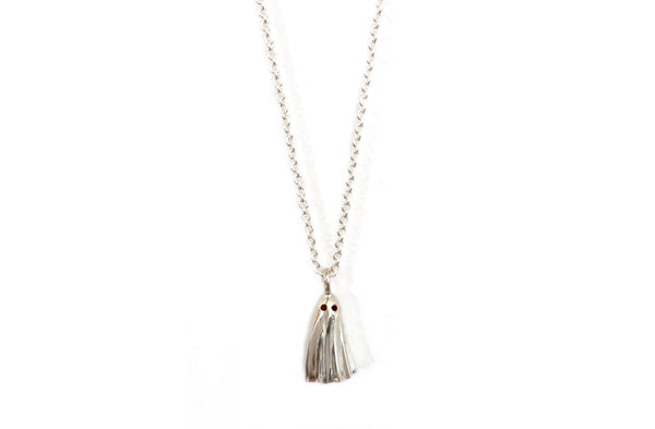 Silver Ghost Boo Necklace