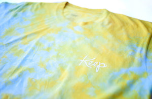 CRYSTAL DYED LOGO TEE Summer Light - Keep Company  - 2