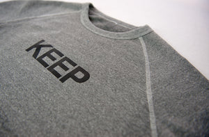 KEEP SWEATSHIRT Grey Raglan Block Logo - Keep Company  - 2