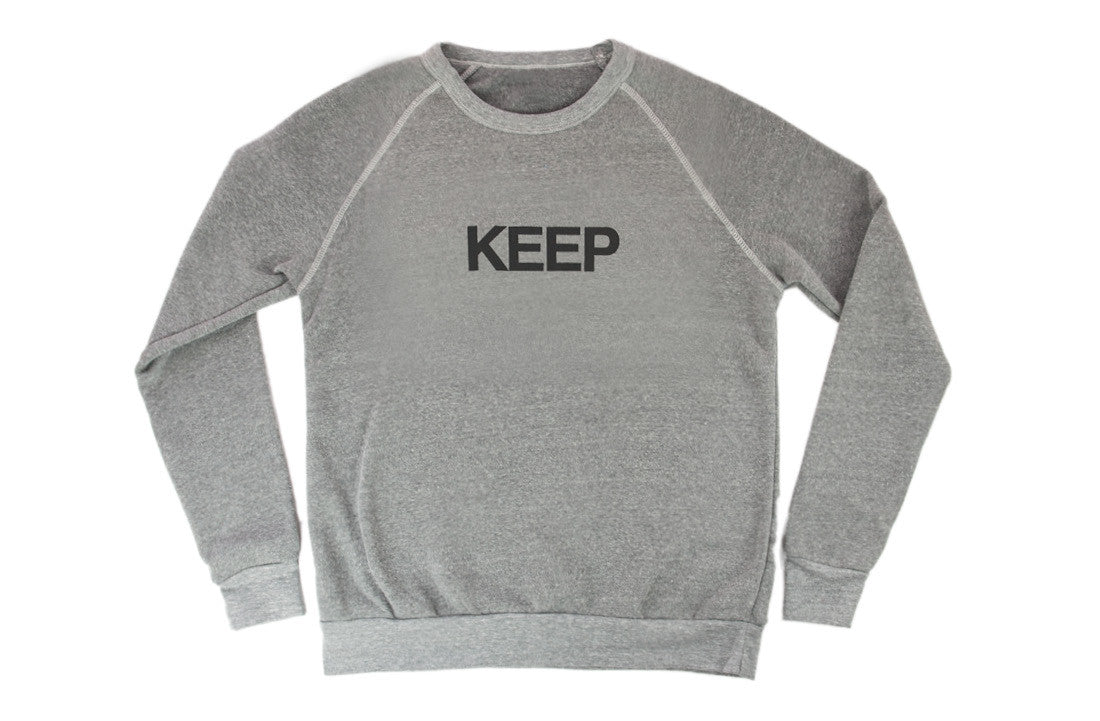 KEEP SWEATSHIRT Grey Raglan Block Logo - Keep Company  - 1