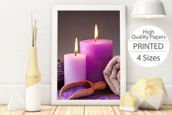 PRINTED POSTER - Beauty Salon Room Wall Decor Print Unframed - Purple Spa