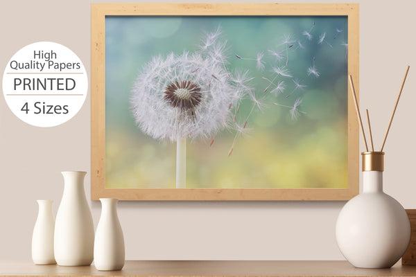 PRINTED POSTER - Beauty Salon Room Wall Decor Print Unframed - Dandelion
