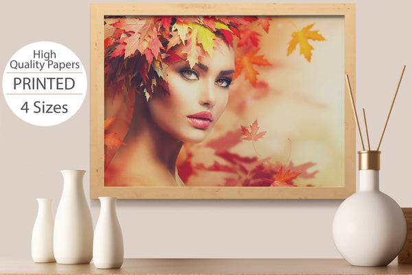PRINTED POSTER - Beauty Salon Room Wall Decor Print Unframed - Autumn