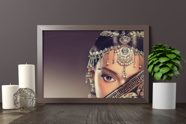 PRINTED POSTER - Beauty Salon Room Wall Decor Print Unframed - Indian Lady