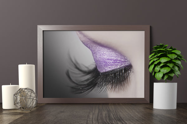 PRINTED POSTER - Beauty Salon Room Wall Decor Print Unframed - Purple Eye
