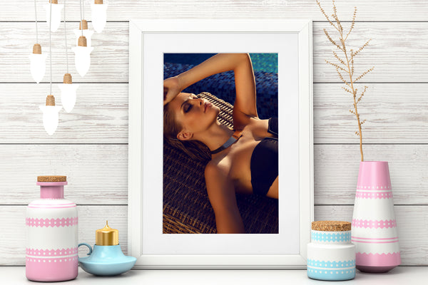 PRINTED POSTER - Beauty Salon Room Wall Decor Print Unframed - Sunbed