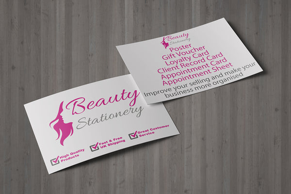 Mini Loyalty Card for Beauty Salon, Sunbed, Solarium, Therapists - A8 size