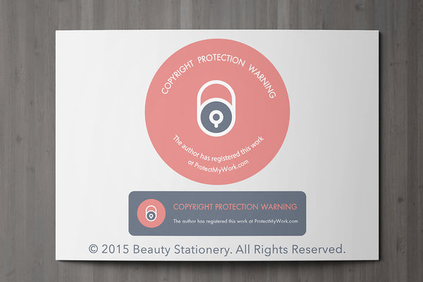 Beauty Client Card / Treatment Consultation Card / Portrait Design