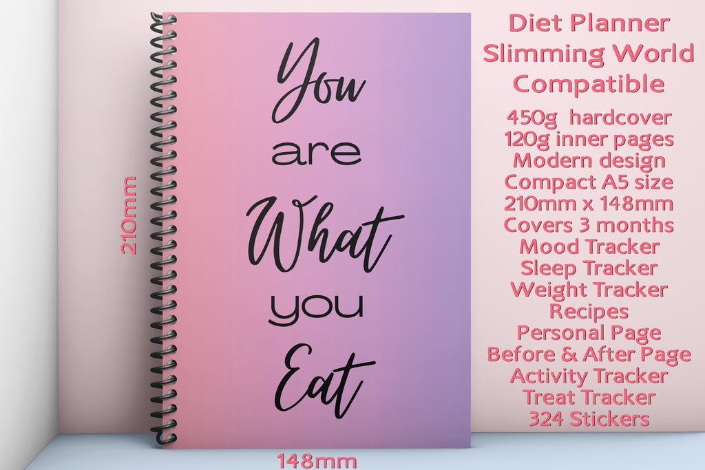 A5 Diet Planner Slimming World Compatible 13 Weeks with Stickers and Trackers