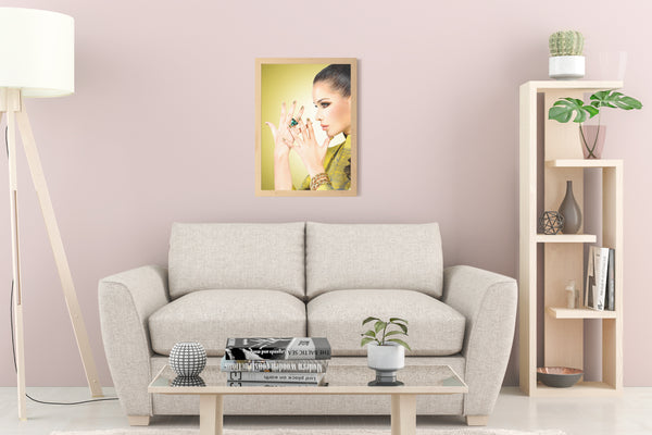 PRINTED POSTER - Beauty Salon Room Wall Decor Print Unframed - Gold Nails