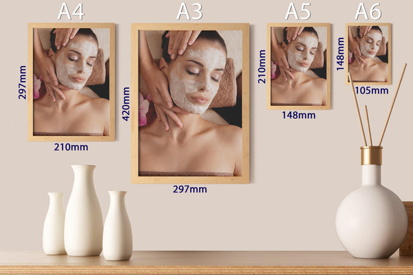 PRINTED POSTER - Beauty Salon Room Wall Decor Print Unframed - Facial