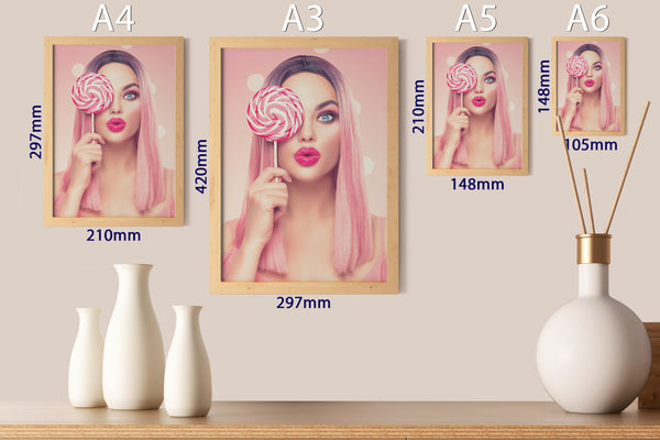 PRINTED POSTER - Beauty Salon Room Wall Decor Print Unframed - Candy