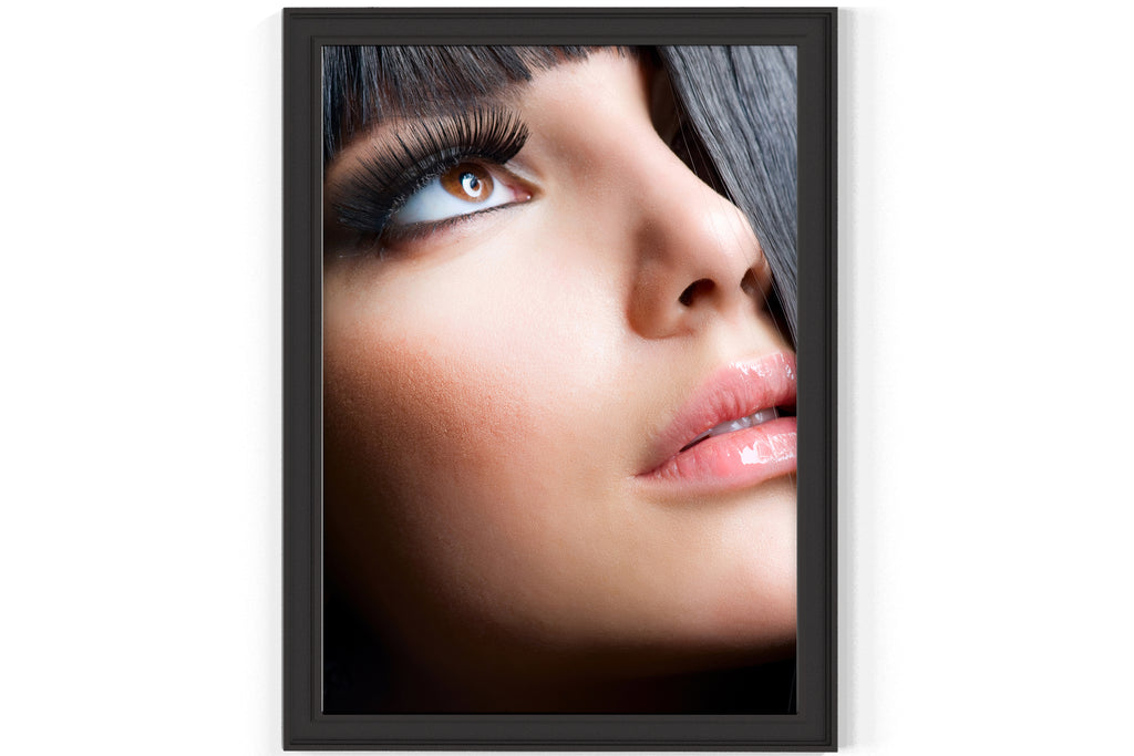 PRINTED POSTER - Beauty Salon Room Wall Decor Print Unframed - Black Hair