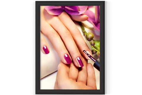 PRINTED POSTER - Beauty Salon Room Wall Decor Print Unframed - Purple Nail