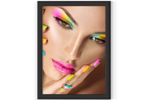 PRINTED POSTER - Beauty Salon Room Wall Decor Print Unframed - Colour Face