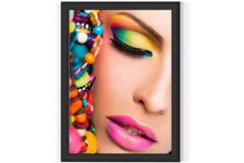 PRINTED POSTER - Beauty Salon Room Wall Decor Print Unframed - Colour Eye