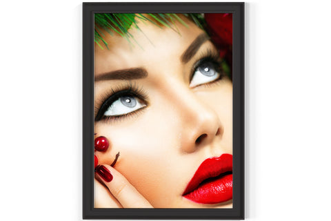 PRINTED POSTER - Beauty Salon Room Wall Decor Print Unframed - Christmas Face