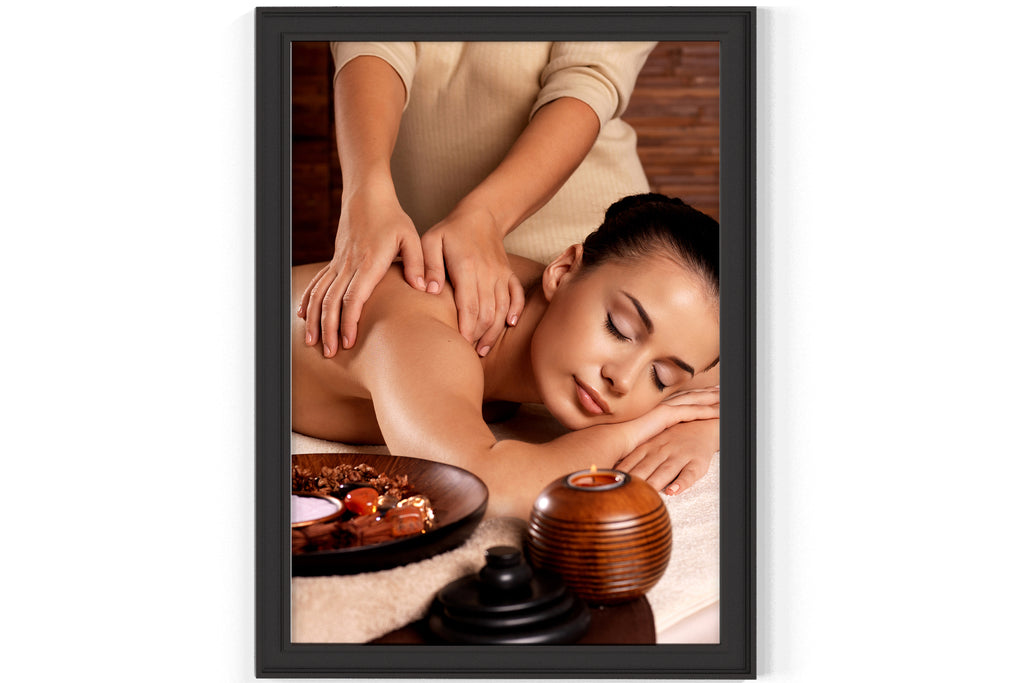 PRINTED POSTER - Beauty Salon Room Wall Decor Print Unframed - Massage