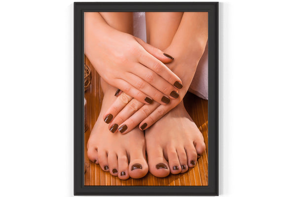 PRINTED POSTER - Beauty Salon Room Wall Decor Print Unframed - Pedicure Manicure