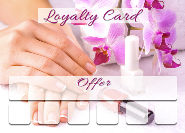 Mini Loyalty Card for Beauty Salons, Nail technicians - A8 size
