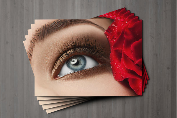 Mini Loyalty Card for Beauty Salons, Eyelash Extension, Lash Lift - A8 size