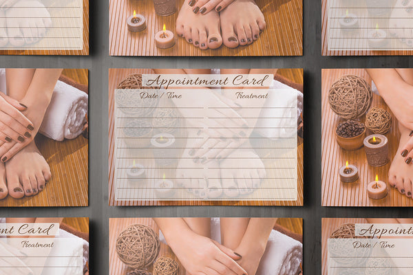 Appointment Card for Beauty Salons, Nail technicians