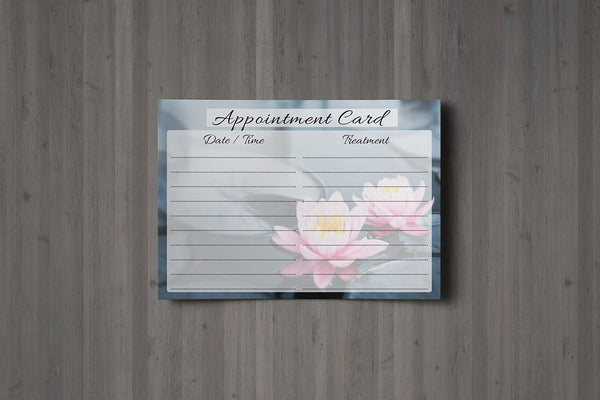 Appointment Card for Massage/Beauty Salons, Therapists