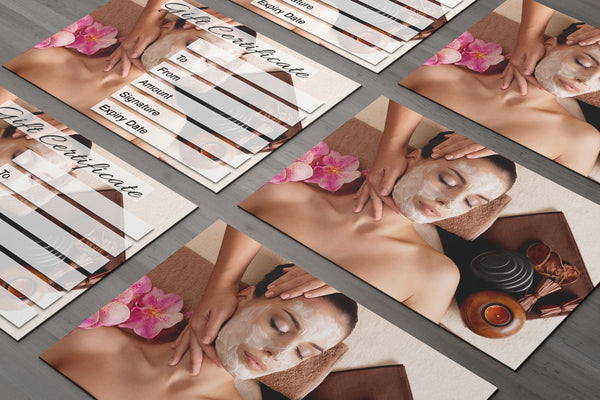 Gift Voucher Card for Beauty Salons, Facial, Spa, Massage