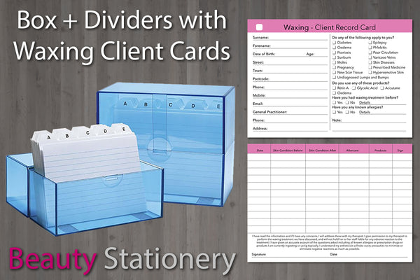 Card Index Box + Free Dividers and Optional Cards