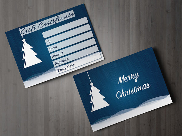 Christmas Gift Voucher Card for Massage/Beauty Salons, Hairdressers, Therapists
