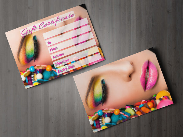 Gift Voucher Card for Massage/Beauty Salons, Hairdressers, Therapists