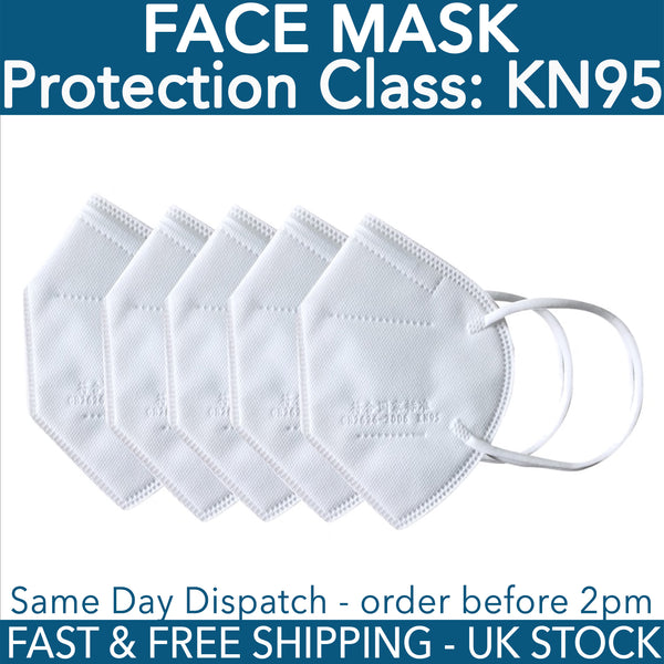 KN95 Professional Face Mask Mouth Guard Cover - UK Stock