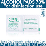 Alcohol Pads 70% Isopropyl Disposable Disinfection Individually Packed