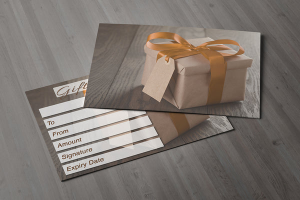 Gift Voucher Card for Hairdressers / Beauty Salons, Nail Treatment, Spa, Massage, Christmas