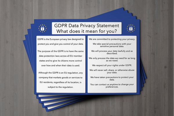 GDPR Compliant Client Card / General Card for All Client Cards / Premium Paper