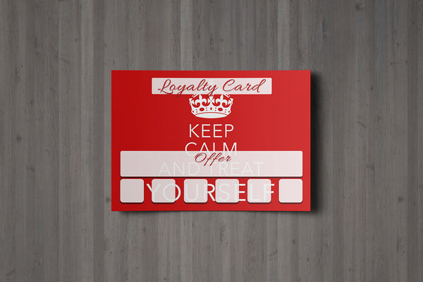 Mini Loyalty Card for Beauty Salons, Therapists - A8 size