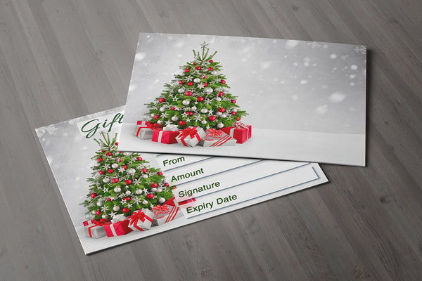 Christmas Gift Voucher Card for Massage / Beauty Salons, Hairdressers, Therapists