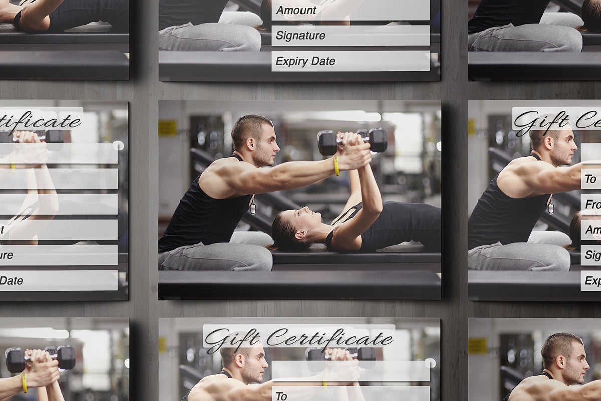 Gift voucher card for personal trainers gym instructors body gift voucher card for personal trainers gym instructors body building kettlebell fitness xflitez Gallery