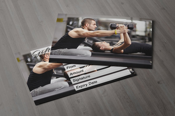 Gift Voucher Card For Personal Trainers Gym Instructors