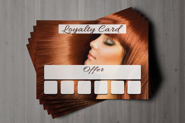 Mini Loyalty Card for Beauty Salons, Hairdressers - A8 size