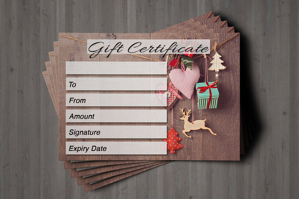 Christmas Gift Voucher Card for Hairdressers / Beauty Salons, Nail Treatment, Spa, Massage