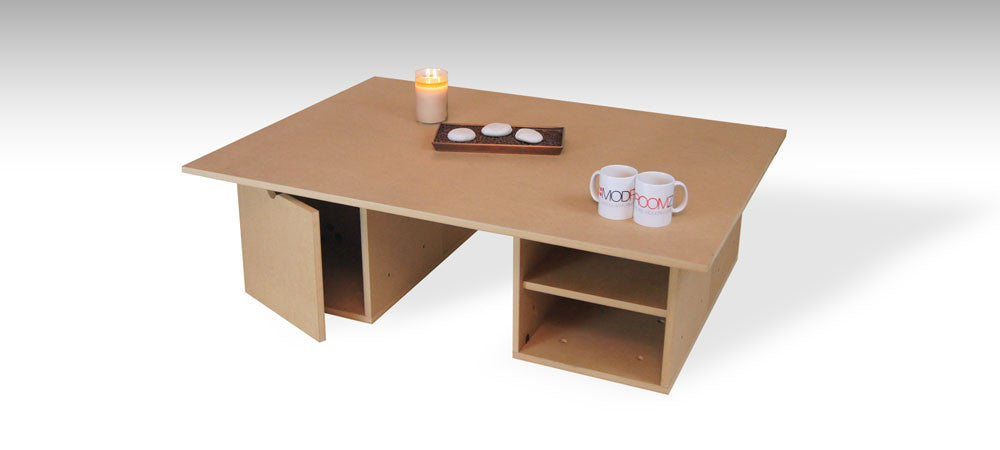 Rectangular coffee table configuration