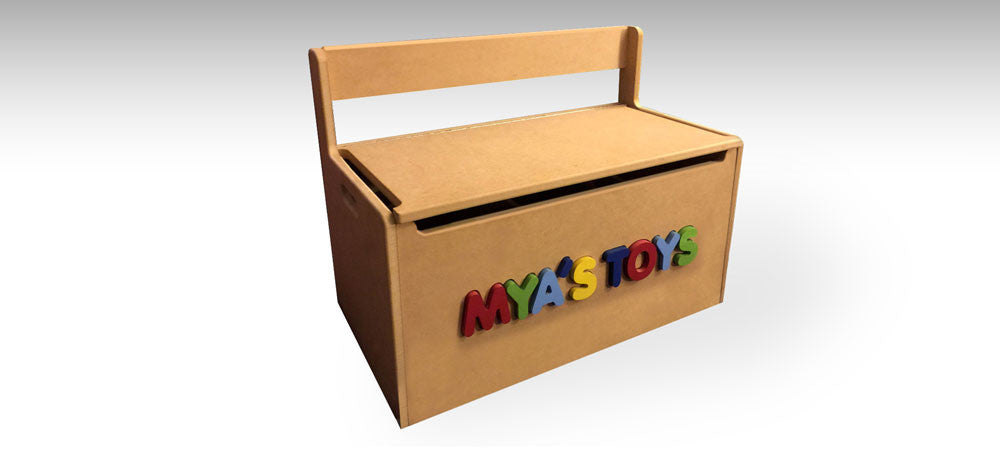 Personalized Childs Toy Box / Storage Bench