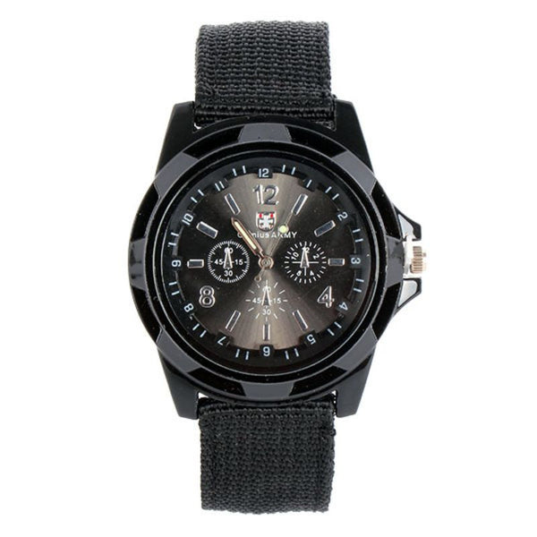 New Sport Military Quartz Watches Nylon Army Men's Stainless Steel Wrist Watches