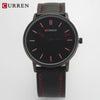 Curren Brand Luxury Casual Sport Watch Men Genuine leather/Alloy Urltra Thin Case Fashion Male Watches Quartz-Watch,W8233M