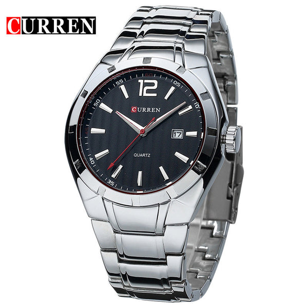 2016 CURREN  Men Watches Top Brand Luxury Stainless Steel Strap Wrist Watches   Sports Watch Waterproof Relogio Masculino xfcs