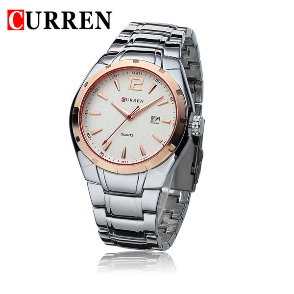 Curren Mens Watches Top Brand Luxury Man Watch Full Steel Quartz-Watch Day Date Calendar Wristwatches Male Clocks Reloj Hombre